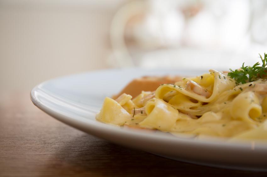 Fettuccini alfredo pasta