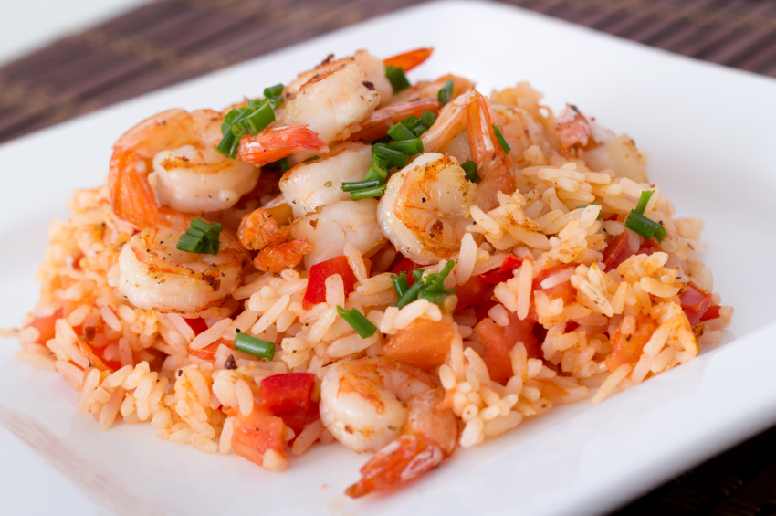 shrimp and rice