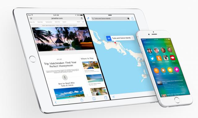 iOS 9 on iPad and iPhone