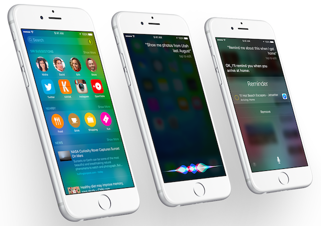 iOS 9 on iPhone