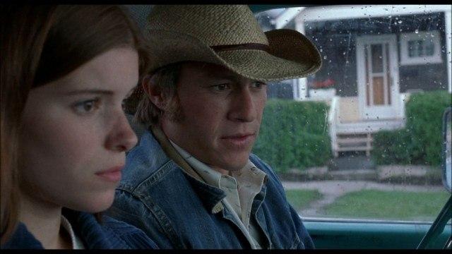 Kate Mara and Heath Ledger in 'Brokeback Mountain.'