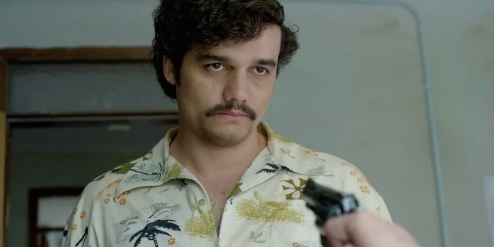 Wagner Moura plays Pablo Escobar in Netflix's Narcos