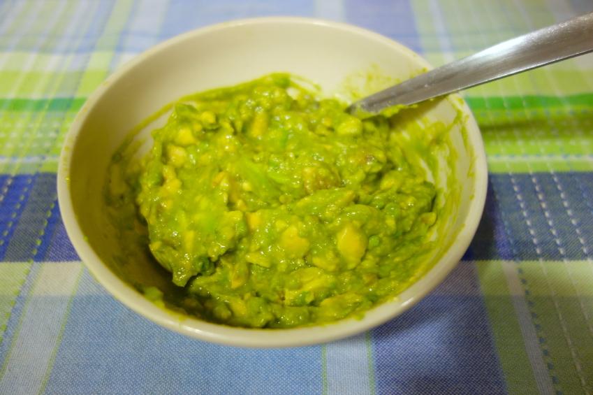 mashed avocado