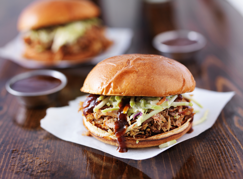 Slow-Cooked Bourbon-Peach Barbecue Pulled Pork