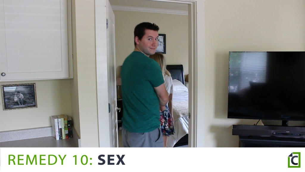 a couple going into the bedroom