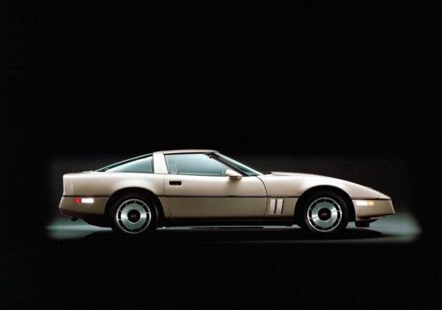 A golden-colored 1984 Chevrolet Corvette