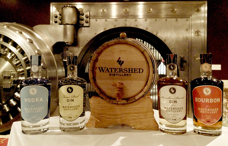 Watershed Distillery Bourbon Barrel Gin