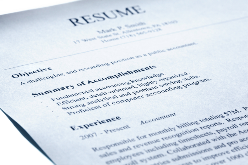 A well constructed resume