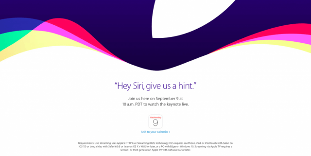 Apple iPhone event scheduled for September 9