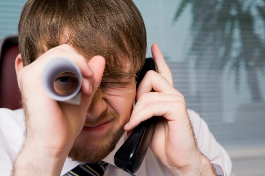 A man screwing around at work