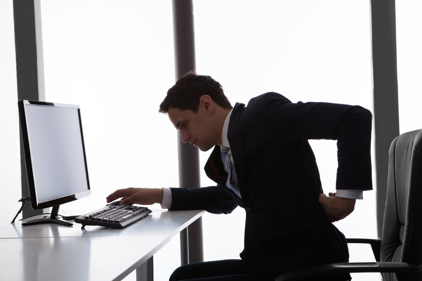 back pain at office