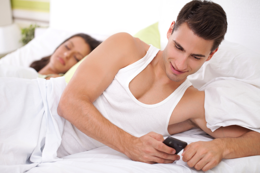 woman being cheated on by her boyfriend on the phone