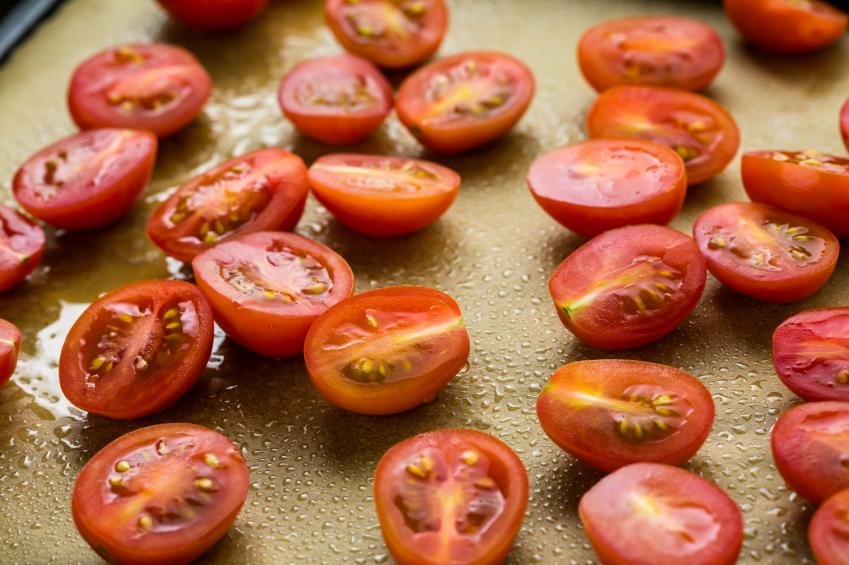 cherry tomatoes, halved