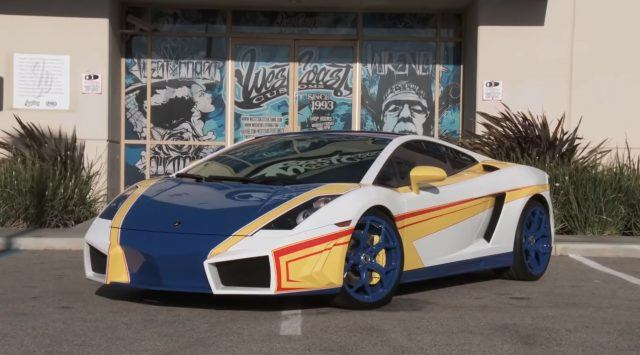 Chris Brown's hideous curtom Lamborghini Gallardo courtesy of West Coast Customs | West Coast Customs via YouTube