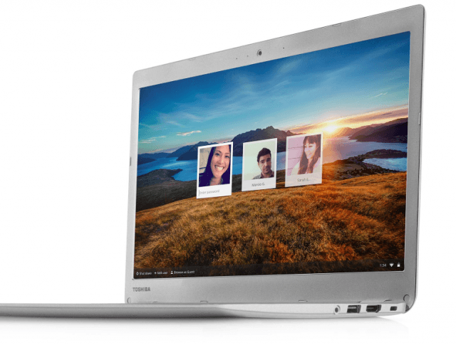 Chromebook enables users to switch between accounts