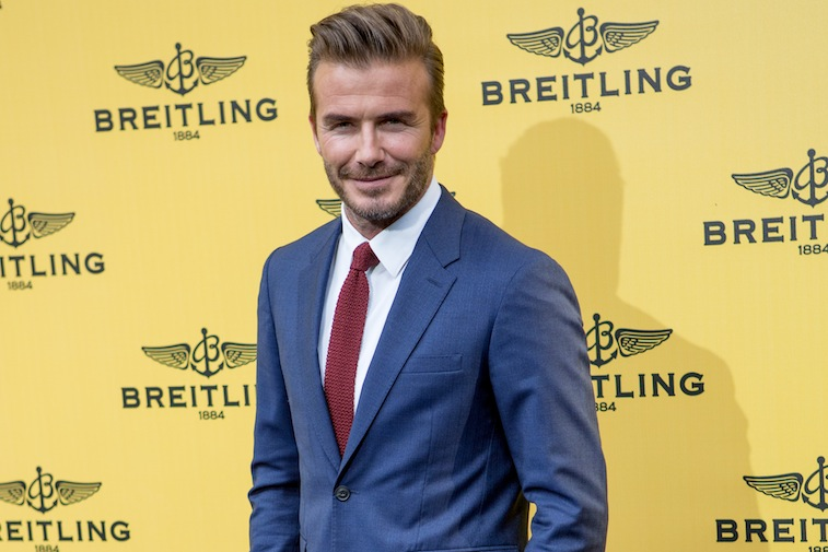 David Beckham Attends The Opening Of The Official Breitling Boutique