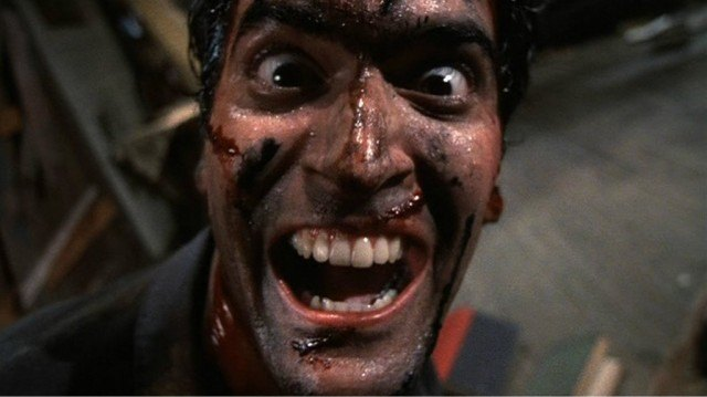 Bruce Campbell in Evil Dead 2