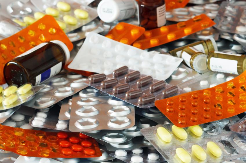 pills in blister packs