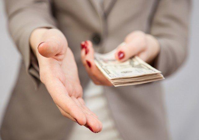 Money and a handshake