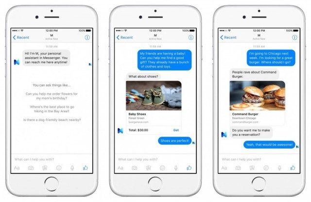 Facebook M personal assistant