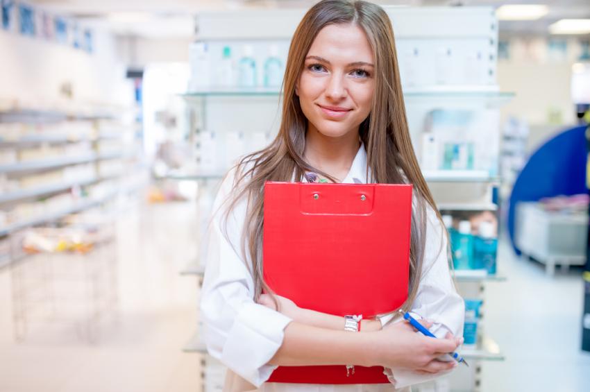 A pharmacist at work