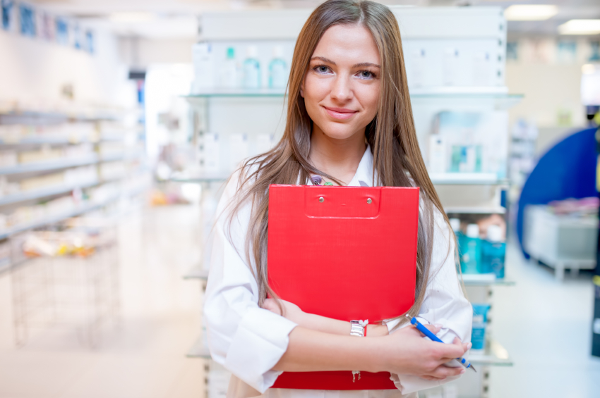 A pharmacist in her natural environment