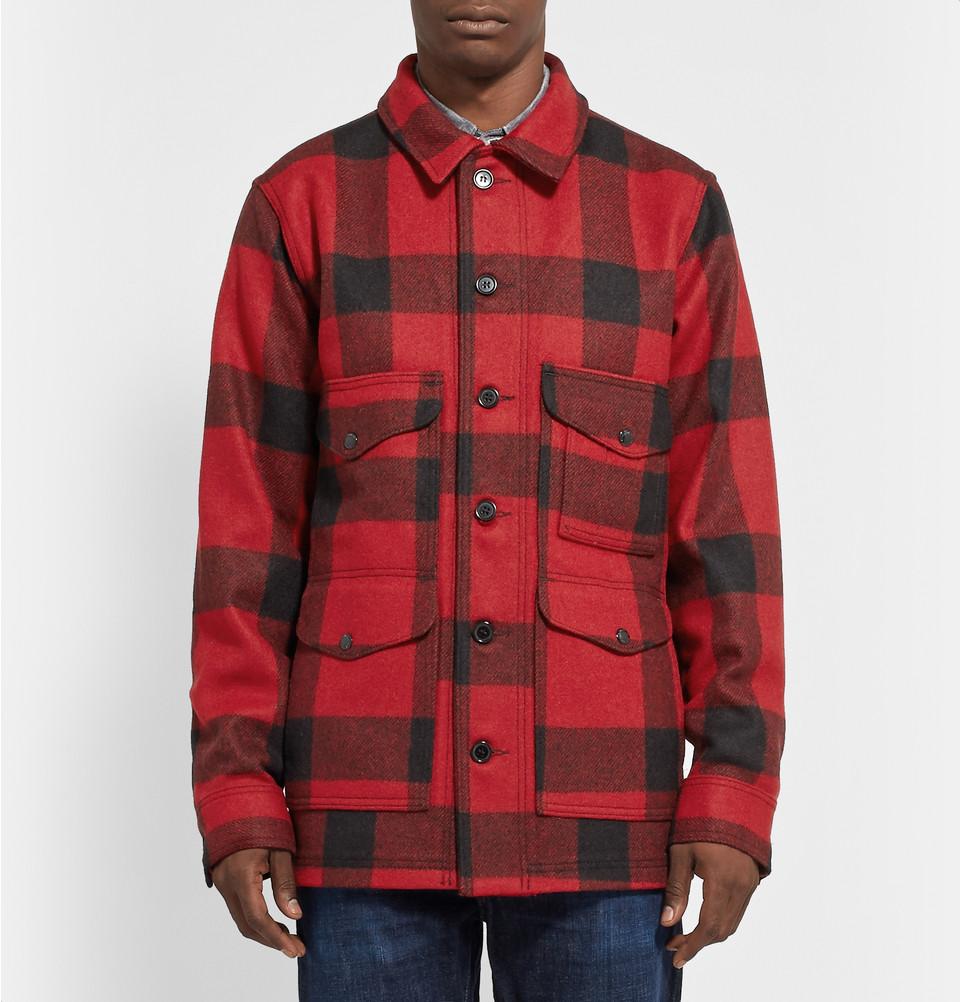 Filson Cruiser Mackinaw wool shirt jacket