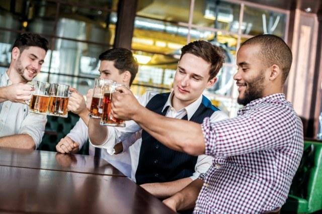 Friends having beers
