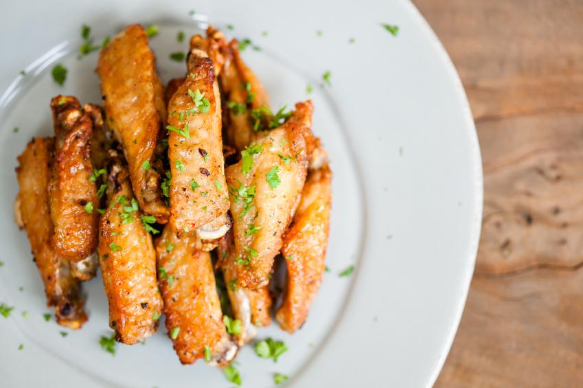 Baked Parmesan garlic wings
