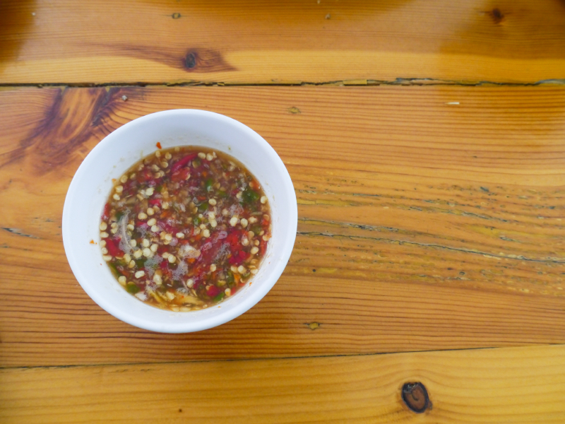 thai dipping sauce, garlic