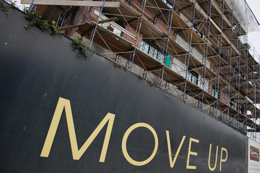 An apartment building under construction