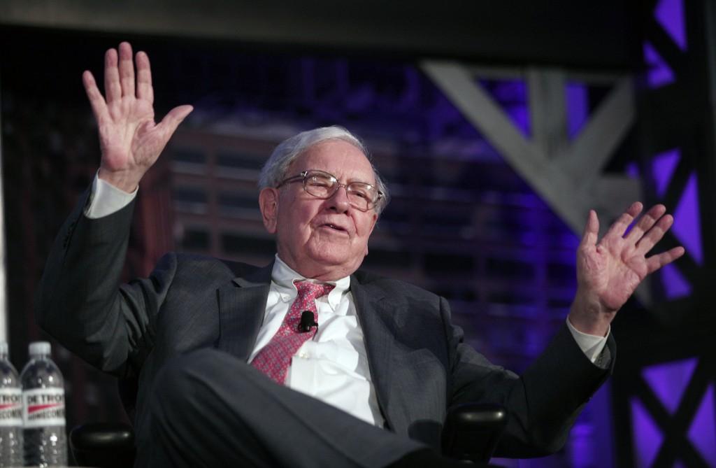 Buffett on stage