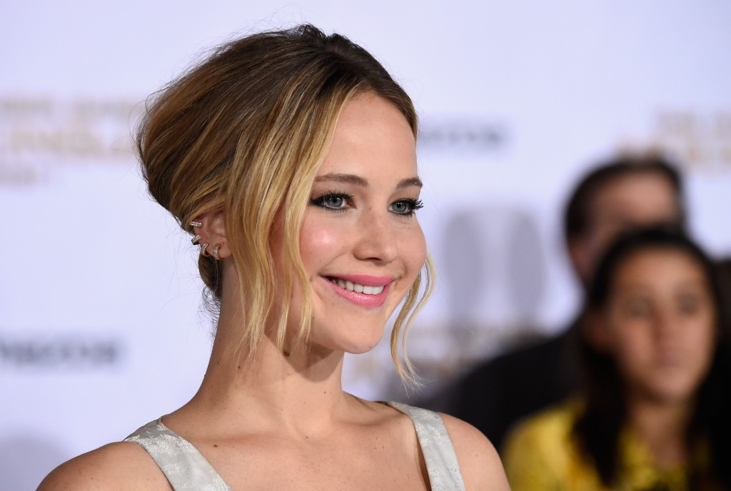 Jennifer Lawrence smiles