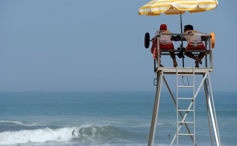 Lifeguards keeping watch