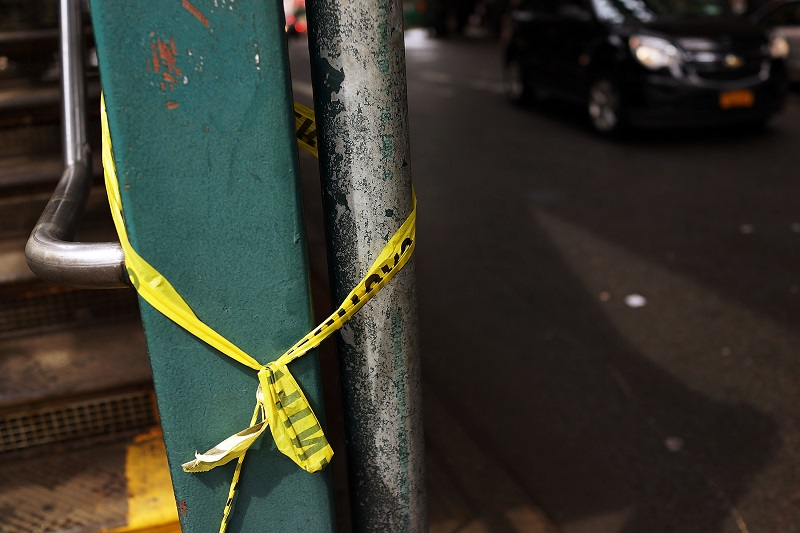 Caution tape in one of the most dangerous cities in the world