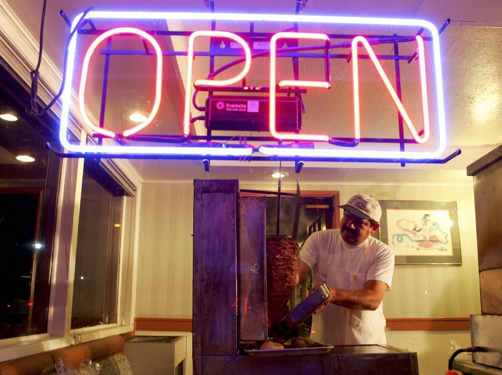 Restauant open sign
