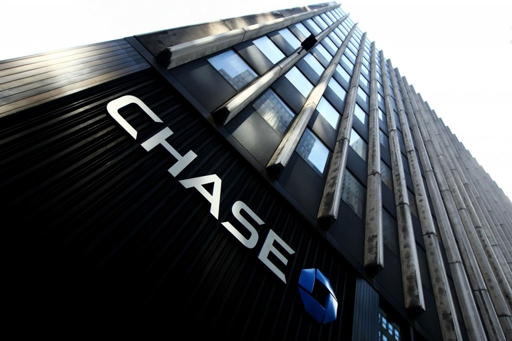 The Chase logo on a building