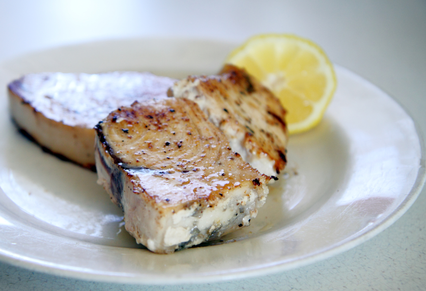 Grilled Swordfish with Cucumber-Melon Salsa