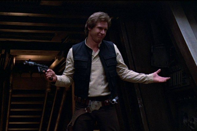 Harrison Ford as Han Solo in 'Star Wars: Return of the Jedi'