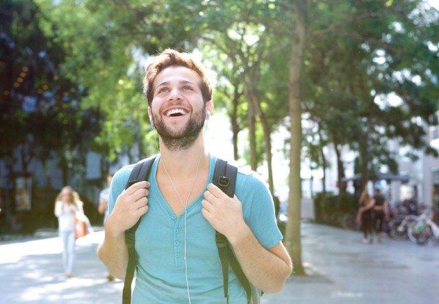 a smiling man