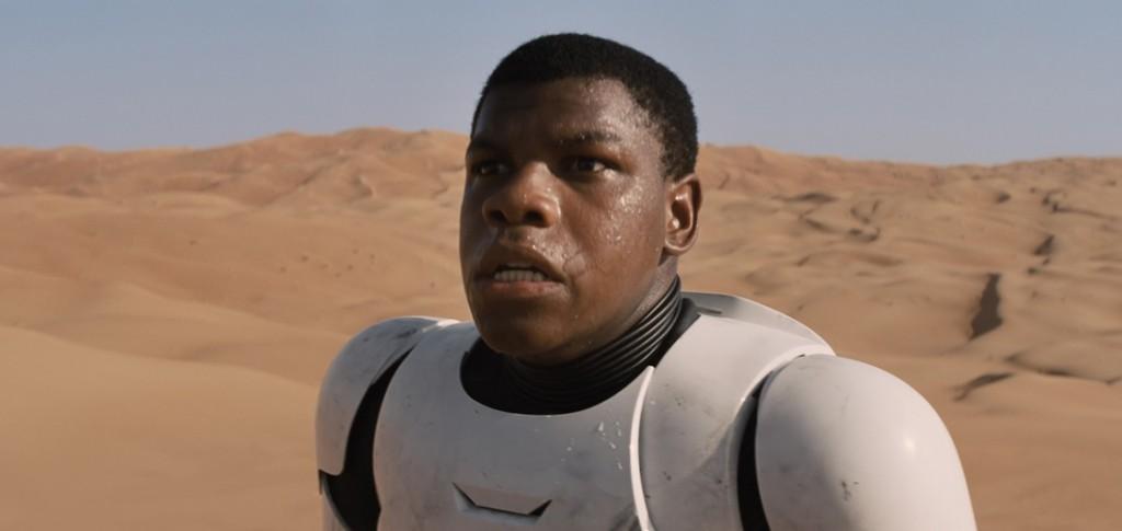 John Boyega as Finn in Star Wars: The Force Awakens