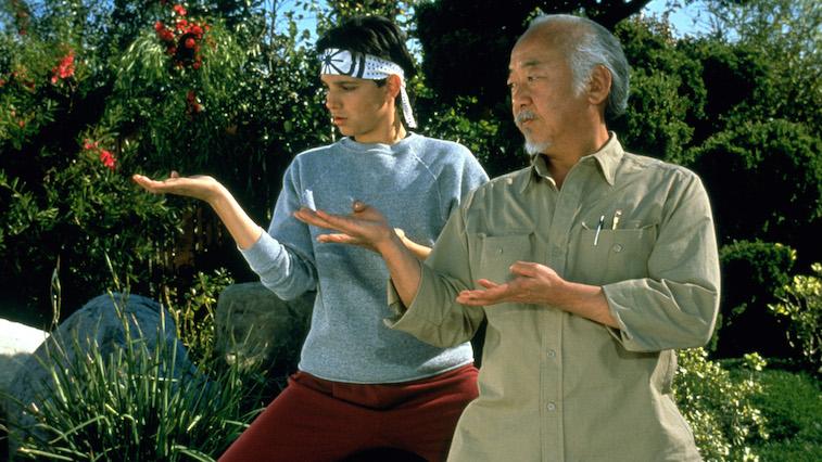 Mr. Miyagi in The Karate Kid