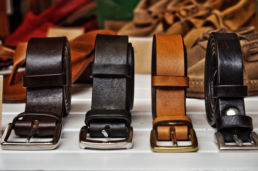 leather belts, apparel, accessories