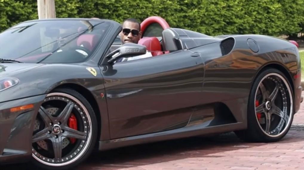 Gray Ferrari sports car