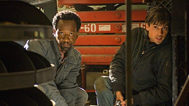Lennie James and Skeet Ulrich in 'Jericho'