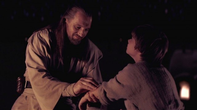 Liam Neeson and Jake Lloyd in 'The Phantom Menace'