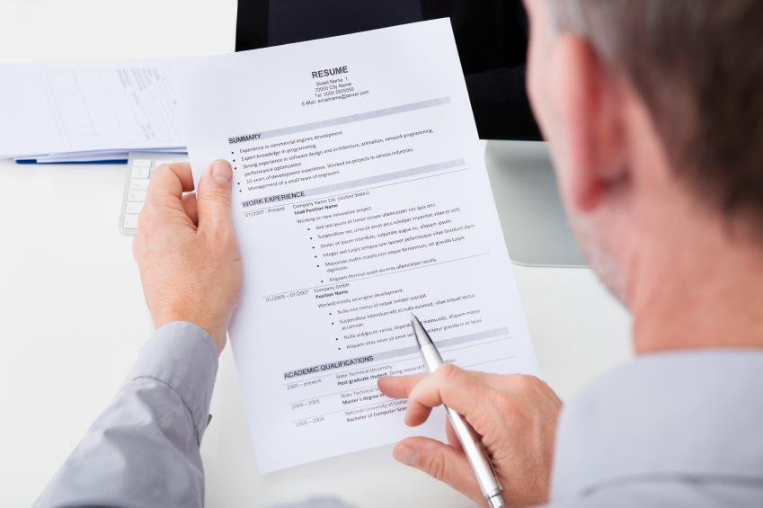 man reviewing resume