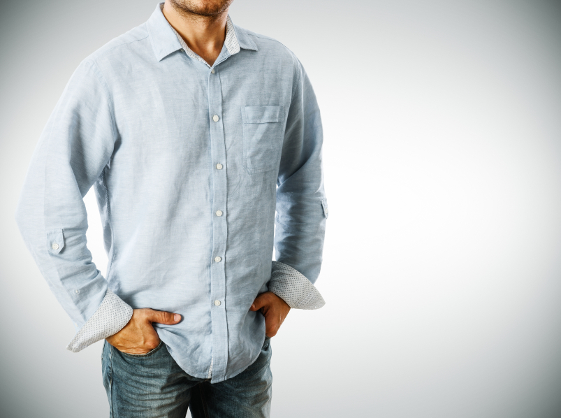 Man wearing casual shirt