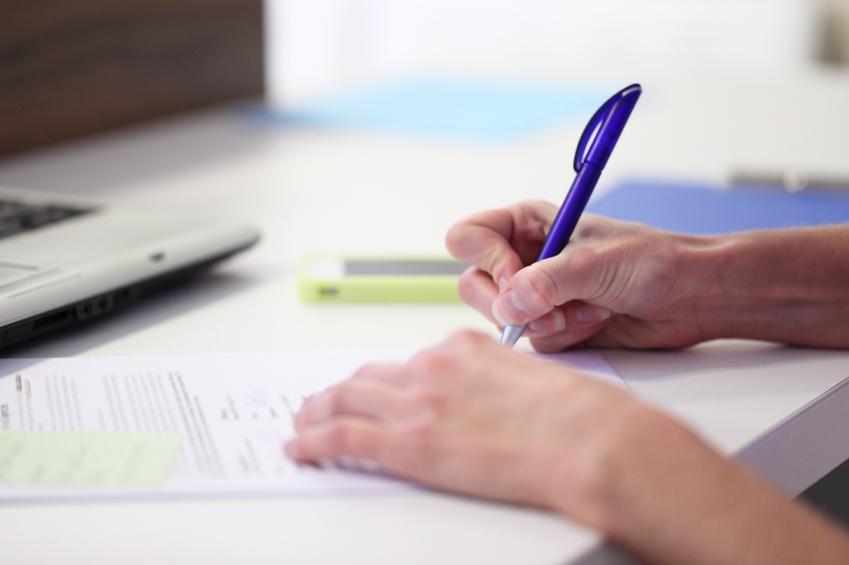 A writer maps out a manuscript