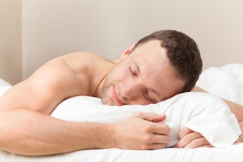 happy guy sleeping